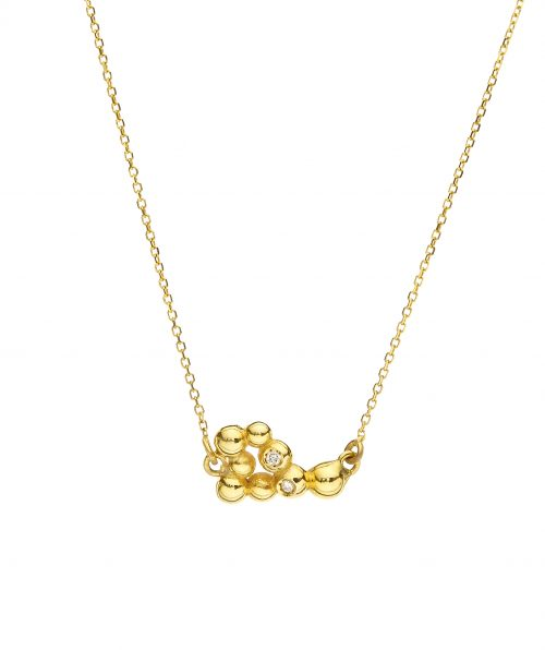 Flora Necklace With Diamonds