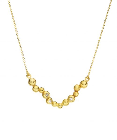 Daphne Necklace With Diamonds