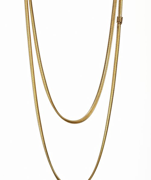 Gold Tone Thin Snake Chain