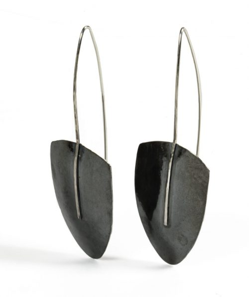 Curved Earrings on Large Hooks