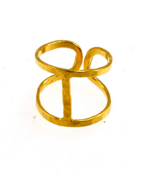 Hammered Ring Gold Plated