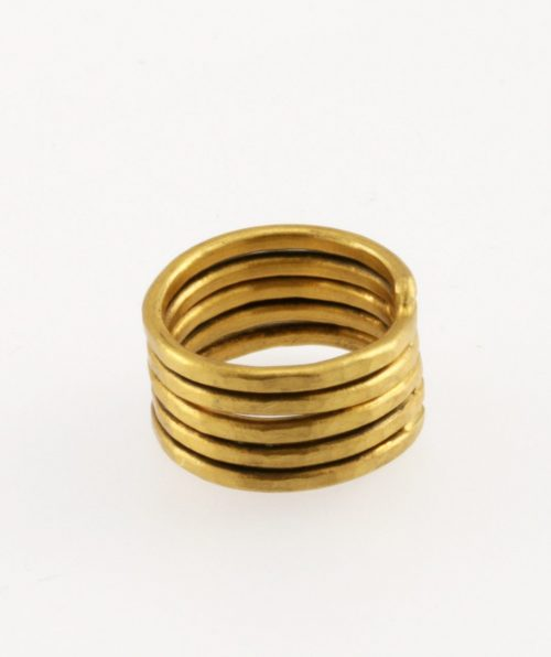 Lines Gold Ring