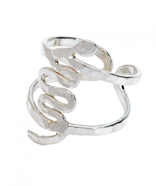 Thick Ophis Ring Silver