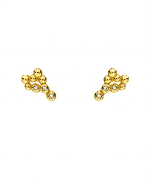 Flora Earrings With Diamonds