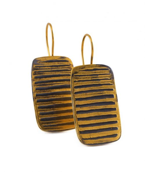 Rectangular Earrings Gold