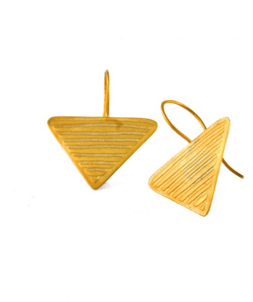 Triangle Earrings with Short Hook