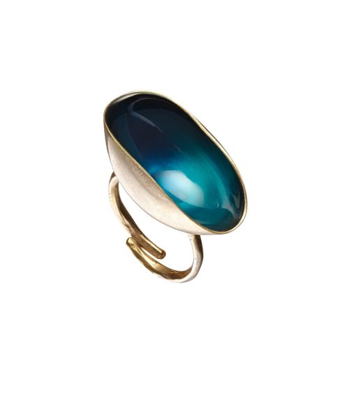 Midnight Blue Ring Enamel