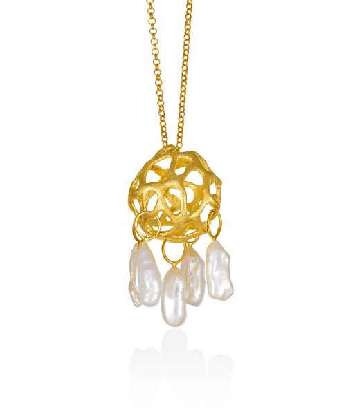 Drops of Grace Pendant with Freshwater Pearls