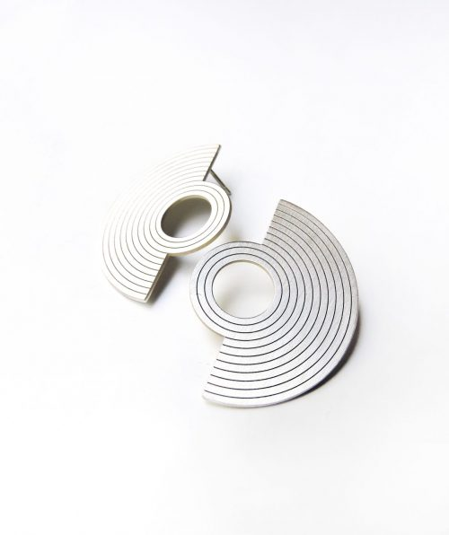 Earrings In Silver From The Amphitheater Collection