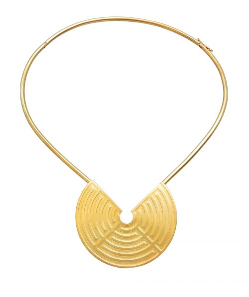 Labyrinth Choker Gold Plated