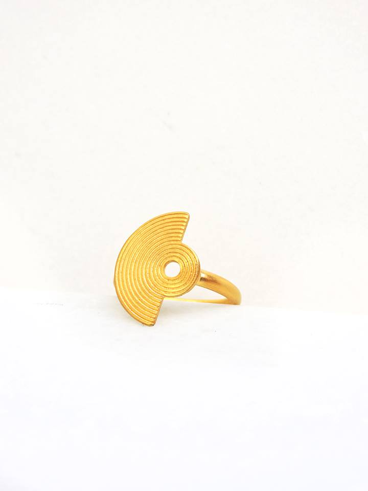 Amphitheater Ring Gold Plated