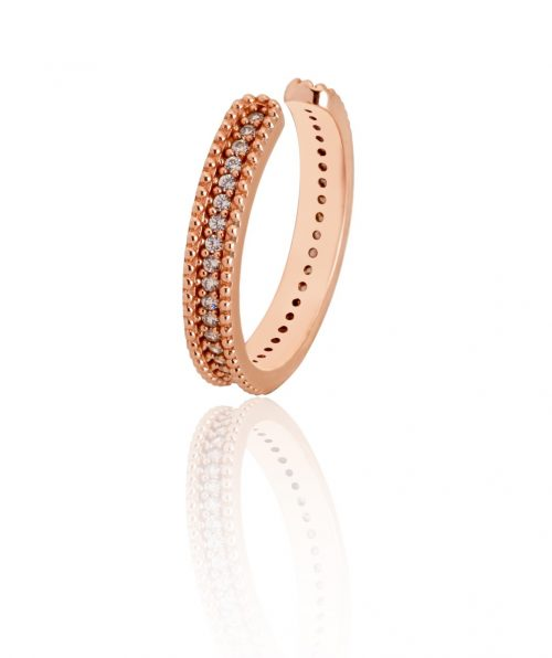 concordia rose gold ring with white zircon